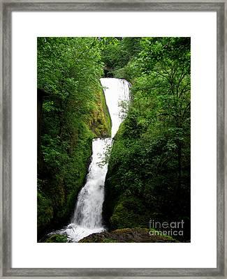 Bridal Veil Falls Framed Print by PJ  Cloud