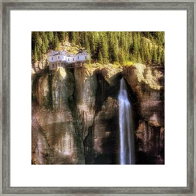 Framed Print featuring the photograph Bridal Veil Falls Power Plant - Telluride - Colorado by Jason Politte