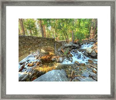 Bridalveil Creek At Yosemite By Michael Tidwell Framed Print