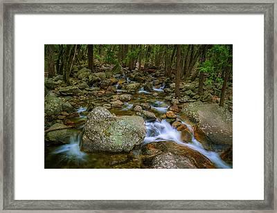 Bridalveil Creek Framed Print by Chuck De La Rosa