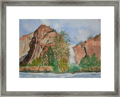 Bridalveil Fall At Yosemite  Framed Print by Warren Thompson