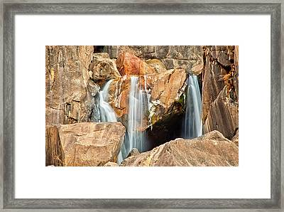 Bridalveil Fall In Yosemite Np Framed Print