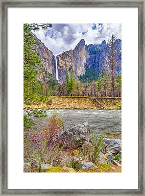 Framed Print featuring the photograph Bridalveil Fall  by Scott McGuire