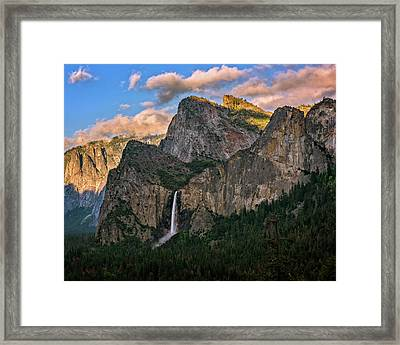 Bridalveil Falls From Tunnel View Framed Print
