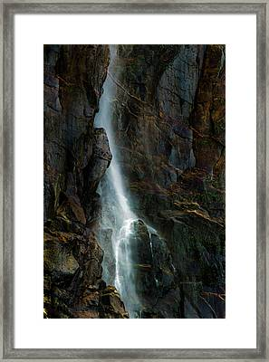 Bridalveil Falls In Autumn Framed Print by Bill Gallagher