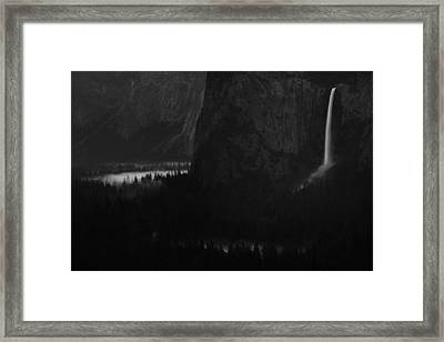 Bridalveil Falls Over Yosemite Valley Framed Print