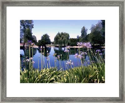 Briddlewood Vineyards Pond Framed Print