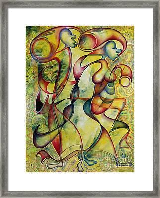 Bride And Groom Framed Print by Abu Artist