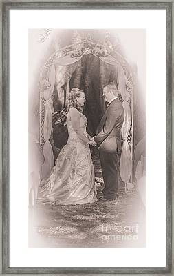 Bride And Groom Exchanging Vows On At Alter Framed Print by Jorgo Photography - Wall Art Gallery