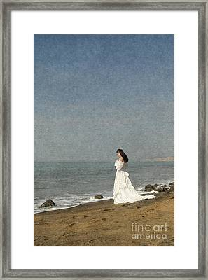 Bride By The Sea Framed Print