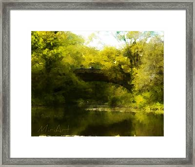 Bride In The Forest Framed Print by Miriam Shaw