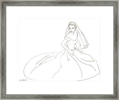 Bride Framed Print by Michelle Kinzler