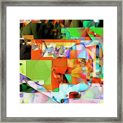 Bride Of Frankenstein In Abstract Cubism 20170402 Square Framed Print