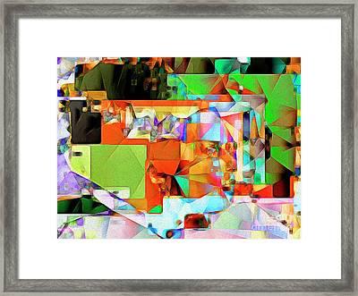 Bride Of Frankenstein In Abstract Cubism 20170402 Framed Print