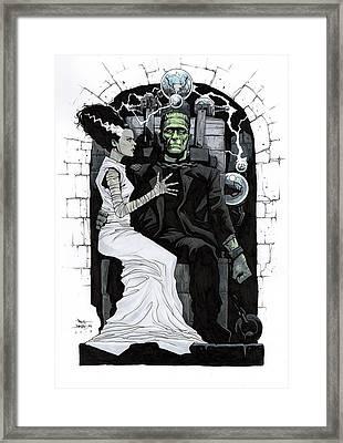 Bride Of Frankenstein Framed Print by Paul Davidson