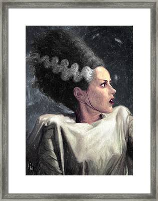 Bride Of Frankenstein Framed Print by Taylan Apukovska