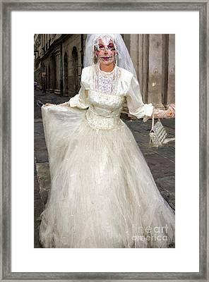 Bride Of Jackson Square Painted_nola Framed Print by Kathleen K Parker