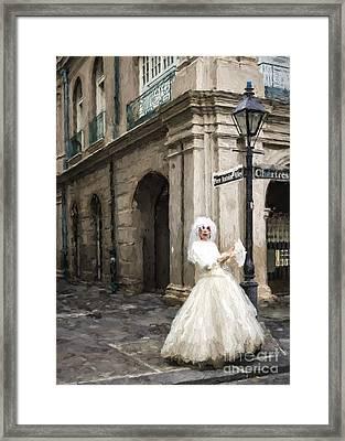 Bride Of Jsq 2- Painted Framed Print by Kathleen K Parker