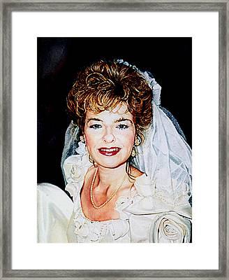 Bride Portrait Framed Print