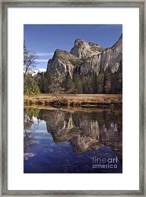 Bridelveil Falls Reflection Framed Print