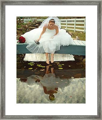Brides Reflection Framed Print by Ken Gimmi