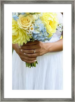Brides Wedding Ring Framed Print