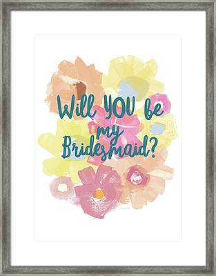 Bridesmaid Floral- Art By Linda Woods Framed Print