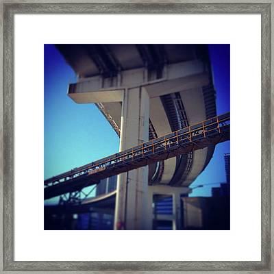 #bridge #橋 #actcute Framed Print by Bow Sanpo