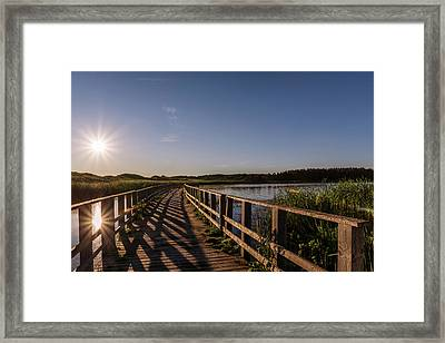 Bridge Across Shining Waters Framed Print by Chris Bordeleau
