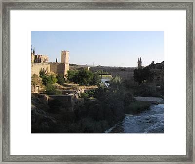 Bridge Across Toledo Framed Print