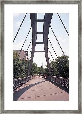 Bridge And Alexanderplatz Tower Framed Print