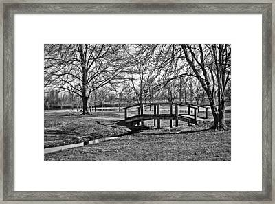 Framed Print featuring the photograph Bridge And Branches by Greg Jackson