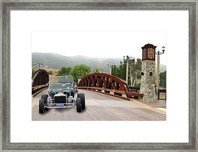 Bridge And Bucket Framed Print