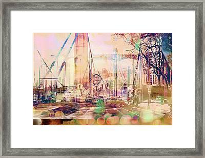 Framed Print featuring the photograph Bridge And Grain Belt Beer Sign by Susan Stone
