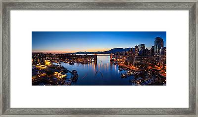 Bridge And The City  Framed Print by Alan W