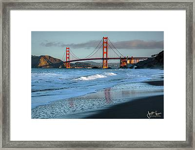 Bridge And Waves Framed Print