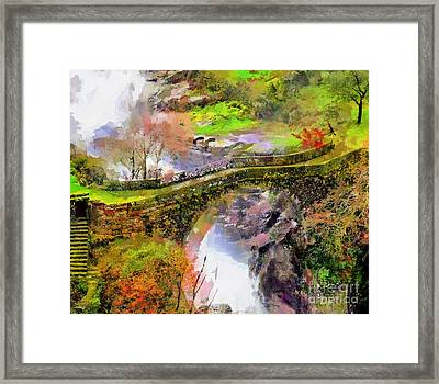 Bridge Arial View Framed Print