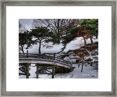 Bridge At Botanical Garden Framed Print