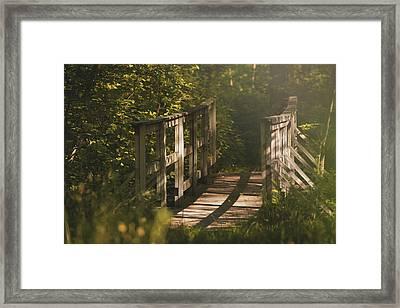 Bridge At Browning Mill Pond Framed Print by Danielle Finn