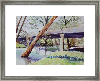 Bridge At Camp Verde Framed Print by Marsha Reeves