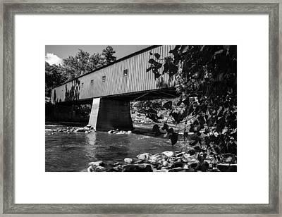 Bridge At Cornwall Framed Print by Karol Livote