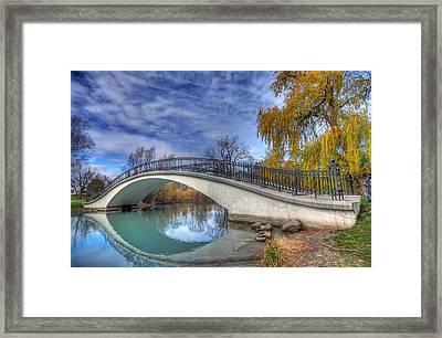 Bridge At Elizabeth Park Framed Print by Rodney Campbell