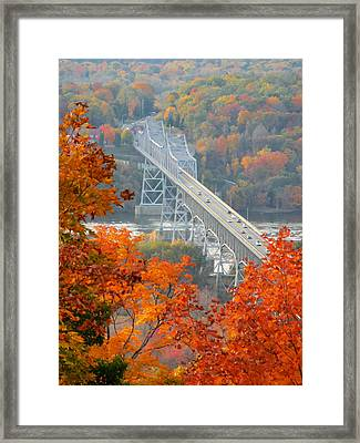 Bridge At Fall 1 Framed Print by Lanjee Chee