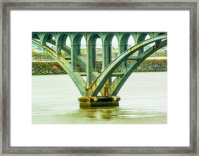 Framed Print featuring the photograph Bridge At Gold Beach by Dale Stillman