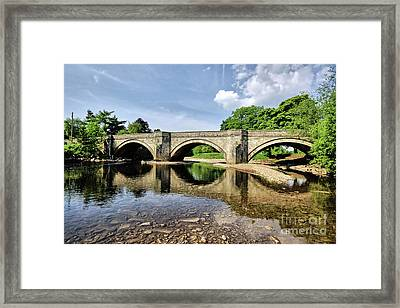 Bridge At Grinton Framed Print by Nichola Denny