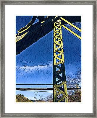Bridge At Guerneville Framed Print