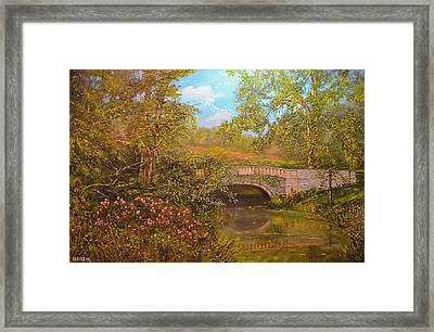 Bridge At Minterne Framed Print