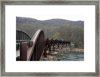 Bridge At Ohiopyle Pennsylvania Framed Print