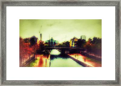 Framed Print featuring the photograph Bridge At Salford Quays by Isabella F Abbie Shores FRSA