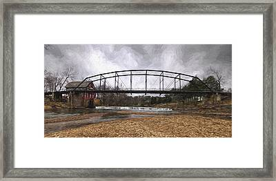Bridge At The Mill Framed Print